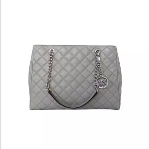 New Michael Kors Susannah Quilted Leather Tote